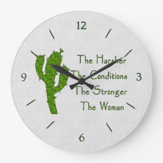 Strong Woman Large Clock