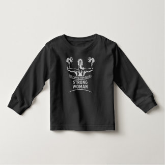 Strong Woman Toddler Dark Long Sleeve T-Shirt