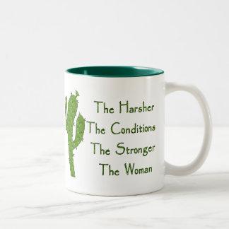 Strong Woman Two-Tone Coffee Mug