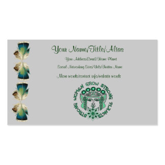 Strong Women Strong Planet Double-Sided Standard Business Cards (Pack Of 100)