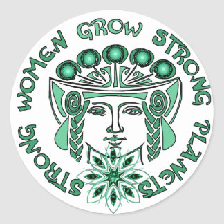 Strong Women Strong Planet Classic Round Sticker