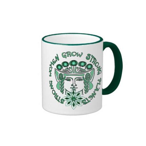 Strong Women Strong Planet Ringer Coffee Mug
