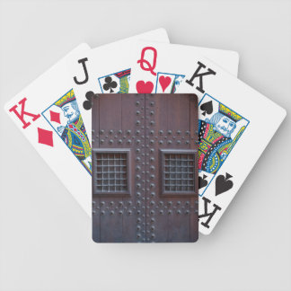 Strong Wooden Brown Door in Spain Bicycle Playing Cards