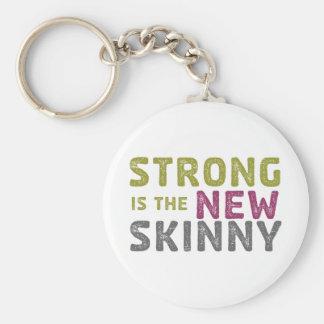 Stronge es el nuevo flaco - bosquejo llavero redondo tipo pin