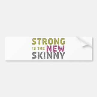 Stronge is the New Skinny - Sketch Car Bumper Sticker