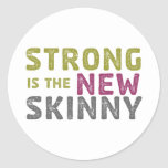 Stronge is the New Skinny - Sketch Classic Round Sticker
