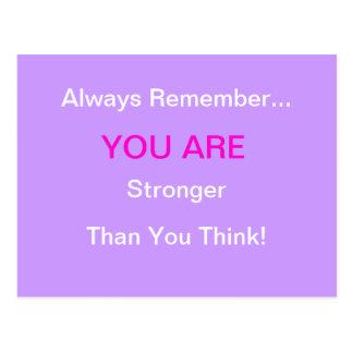 """STRONGER"" Breast Cancer Postcard"