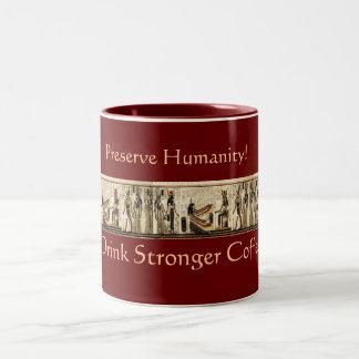"""STRONGER COFFEE!"" Akhnaton Music Egyptian Mug"
