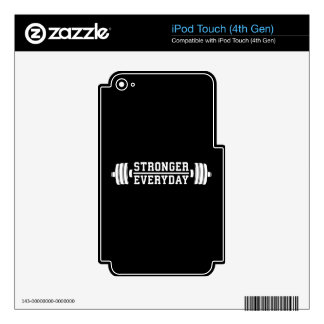 Stronger Everyday - Workout Inspirational Decal For iPod Touch 4G