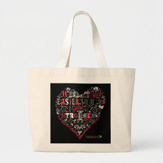 STRONGER heart Large Tote Bag