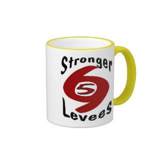 Stronger Levees Ringer Coffee Mug