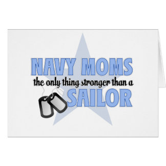 Stronger Navy Mom Card