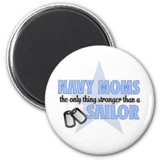 Stronger Navy Mom Magnet