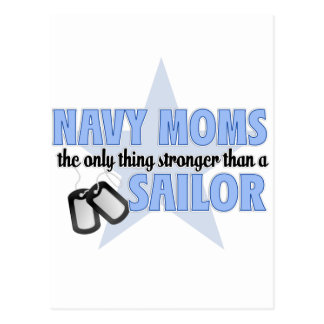 Stronger Navy Mom Postcard