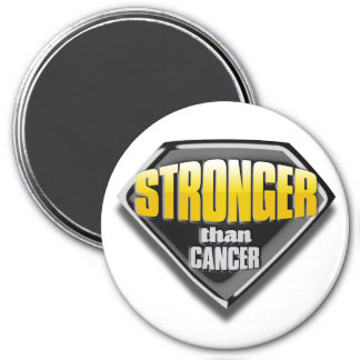 Stronger than cancer 3 inch round magnet