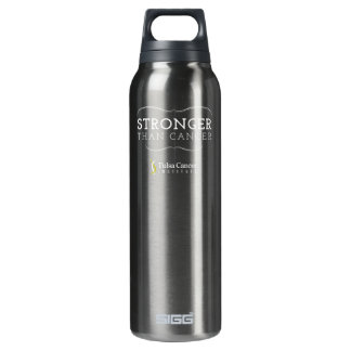 """""""Stronger than Cancer"""" Aluminum 24oz Thermos Bottle"""
