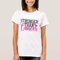 Stronger Than Cancer | Breast Cancer Awareness T-Shirt