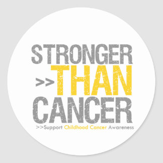 Stronger Than Cancer - Childhood Cancer Classic Round Sticker