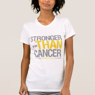Stronger Than Cancer - Childhood Cancer T Shirt