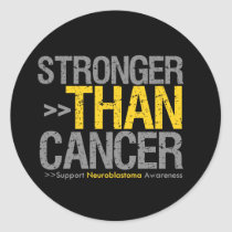Stronger Than Cancer - Neuroblastoma Classic Round Sticker