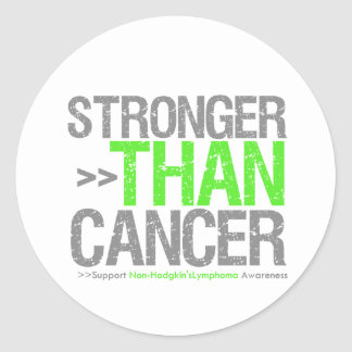 Stronger Than Cancer - Non-Hodgkin's Lymphoma Classic Round Sticker