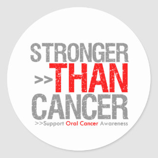 Stronger Than Cancer - Oral Cancer Round Stickers