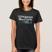 Stronger Than Cancer/ Ovarian Cancer Awareness T-Shirt