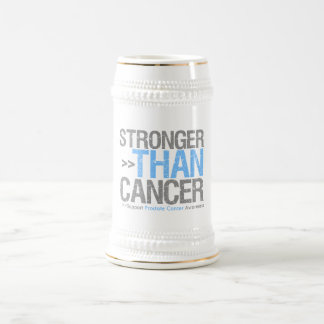 Stronger Than Cancer - Prostate Cancer Beer Stein