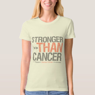 Stronger Than Cancer - Uterine Cancer T-Shirt