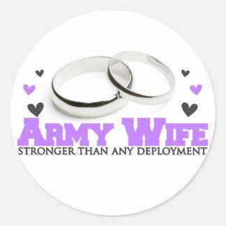 Stronger than Deployment Classic Round Sticker