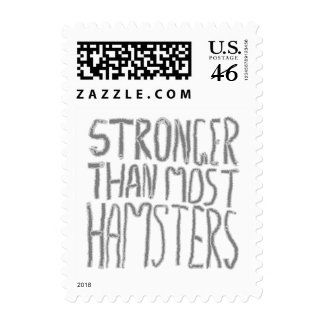 Stronger Than Most Hamsters. Postage Stamp