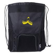 Stronger Than Sarcoma Awareness Drawstring Backpack