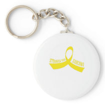 Stronger Than Sarcoma Awareness Keychain