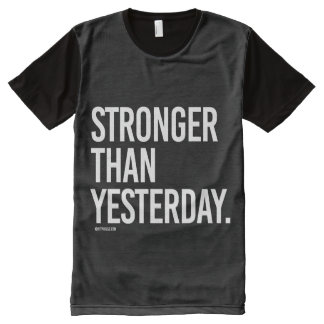 Stronger than yesterday -   Training Fitness -.png All-Over-Print Shirt