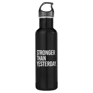 Stronger than yesterday -   Training Fitness -.png Water Bottle