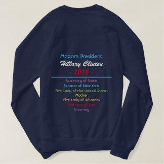 Stronger To Get Her Elected Resume on Back Sweatshirt