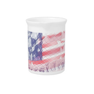 Stronger together USA Hillary 4 President American Beverage Pitcher