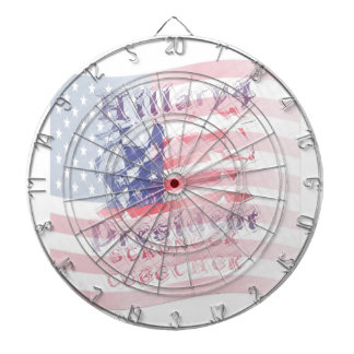 Stronger together USA Hillary 4 President American Dart Board