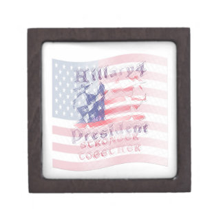 Stronger together USA Hillary 4 President American Jewelry Box