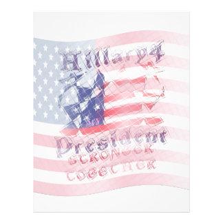 Stronger together USA Hillary 4 President American Letterhead