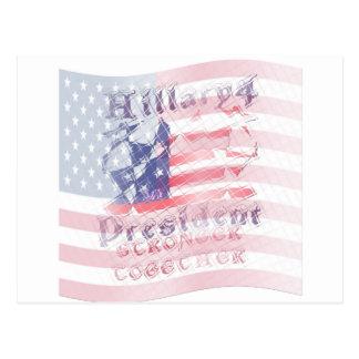 Stronger together USA Hillary 4 President American Postcard