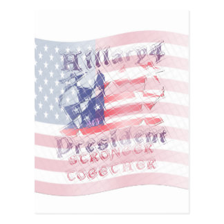 Stronger together USA Hillary 4 President American Postcard