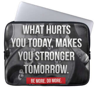 """STRONGER TOMORROW - """"Body building"""" Motivational Laptop Sleeves"""