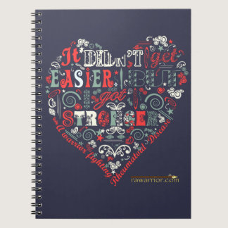 Stronger with heart spiral notebook