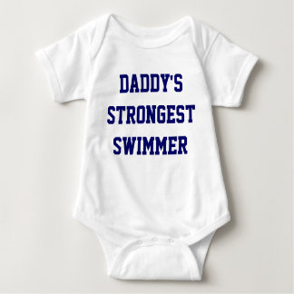 Strongest Swimmer Baby Bodysuit