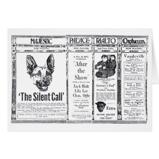 Strongheart canine actor silent movie ad 1921 card