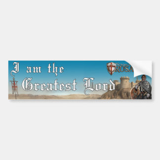 Stronghold Crusader - Greatest Lord 1 Car Bumper Sticker