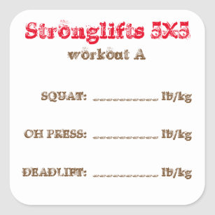 Squats Workout Stickers | Zazzle