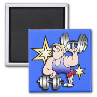 Strongman 2 Inch Square Magnet