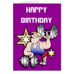 Strongman Birthday Greeting Card